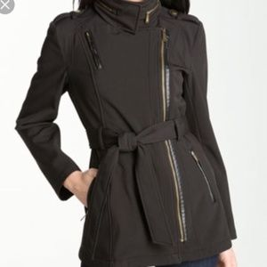 Michael Kors Military Style Rain Jacket